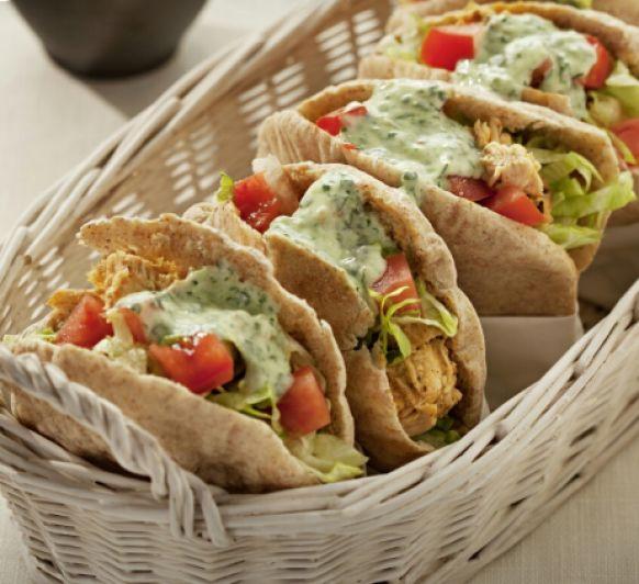 Doner Kebab de pollo con pita integral