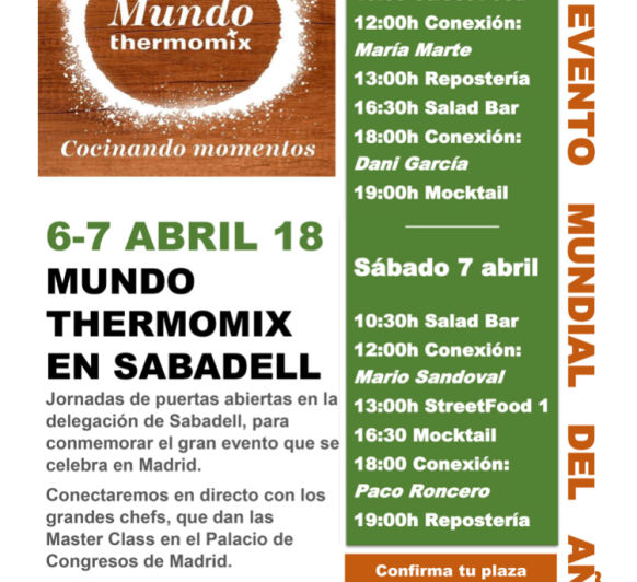 EL EVENTO MÁS EXCLUSIVO DE Thermomix® EN SABADELL
