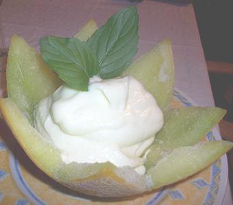 Helado cremoso de melón... refrescante!!!!