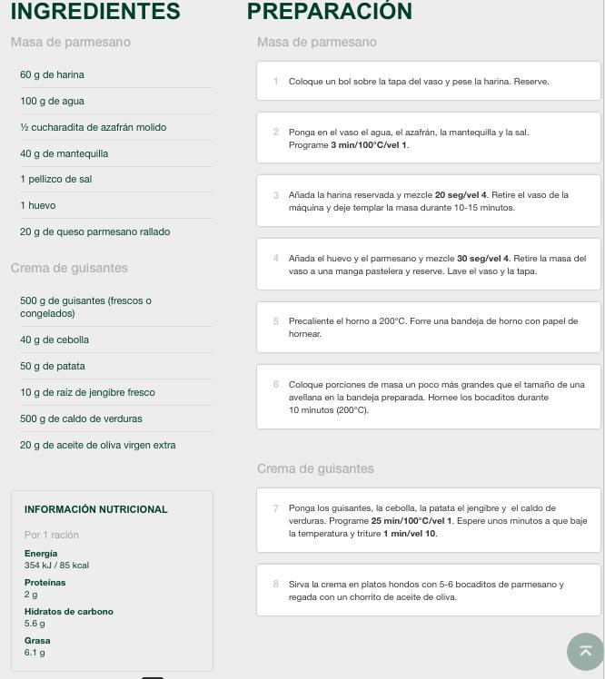 CREMA DE GUISANTES al jengibre CON BOCADITOS DE PARMESANO