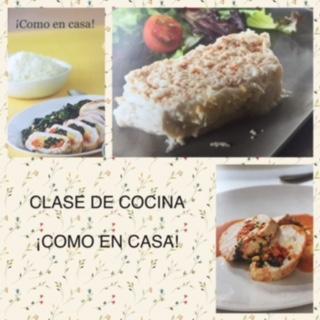 CLASE DE COCINA ¡COMO EN CASA!