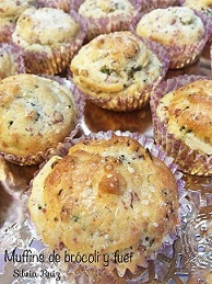 Muffins de brócoli y fuet