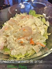 Ensalada marinera de arroz