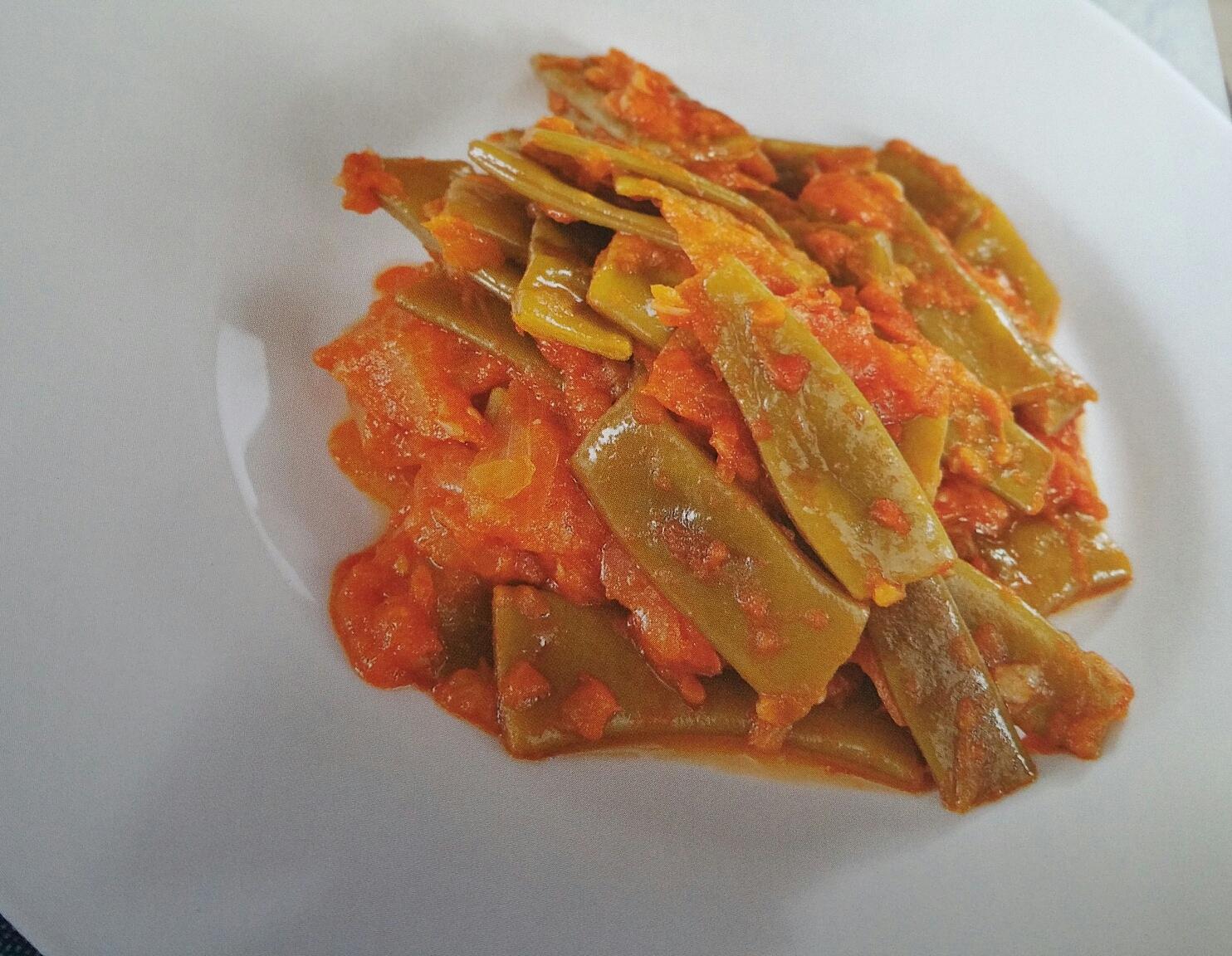 Jud as verdes con tomate cocinar con varoma verduras for Cocinar judias verdes