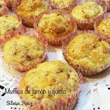 Muffins de jamón y queso