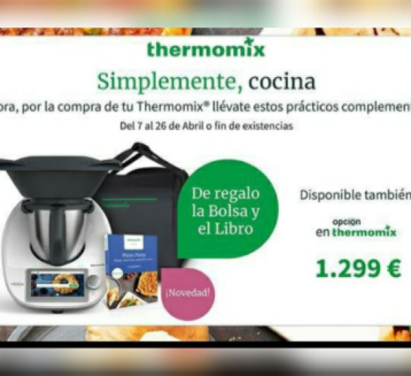 TM6 + BOLSA + LIBRO PIZZA PARTY!!!~ AHORA TU Thermomix® VIENE CON REGALO!!!