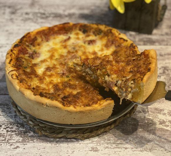 Pizza estilo Chicago Con Thermomix®