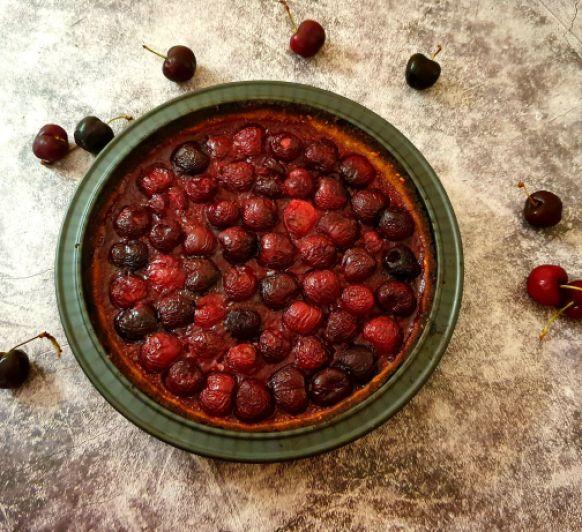 Tarta de cerezas saludable