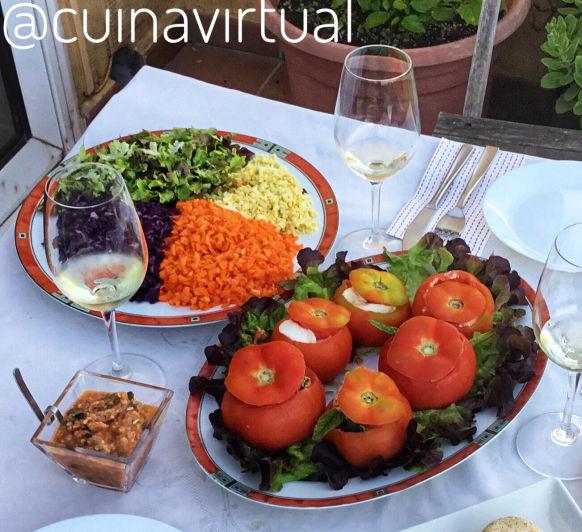 Tomates rellenos con Atún y Calabacín con Thermomix®