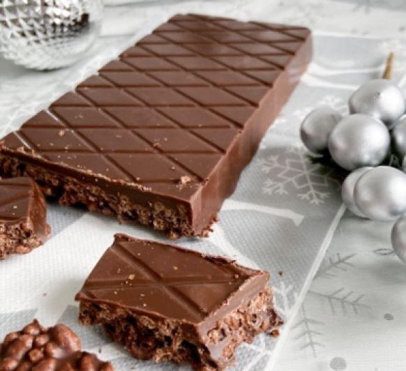 TURRÓN DE CHOCOLATE Y CEREALES LES SIN GLUTEN CON Thermomix®