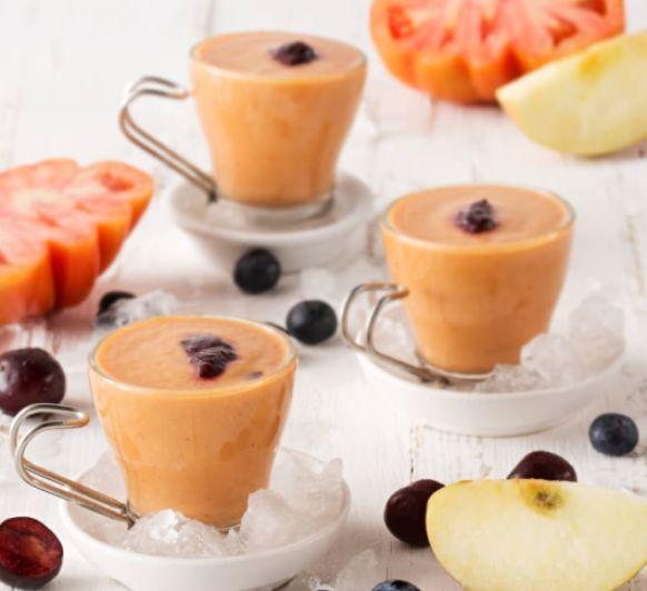 Como hacer Gazpacho de manzanas, arándanos y cerezas con Thermomix®