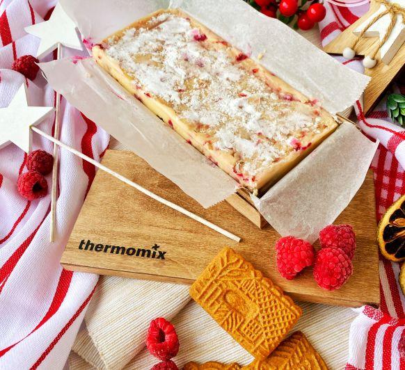 TURRÓN CHEESECAKE DE CHOCOLATE BLANCO CON Thermomix®