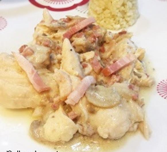Pollo a la carbonara