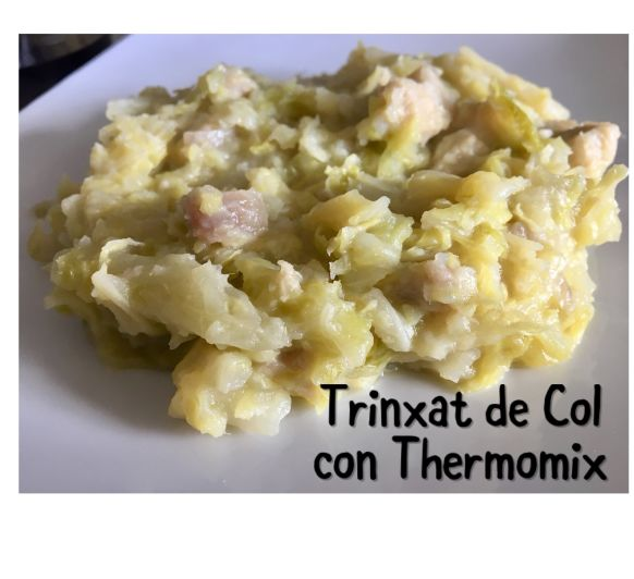 Como hacer fácil el trinxat de col, con Thermomix® .