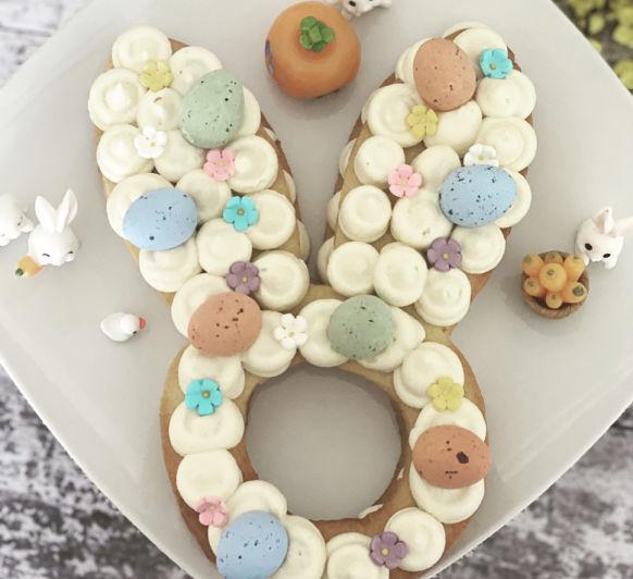 Tarta Conejo de Pascua con Ganache de chocolate blanco!!