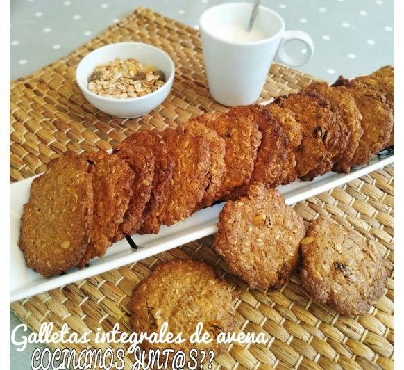 GALLETAS INTEGRALES DE AVENA CON Thermomix®