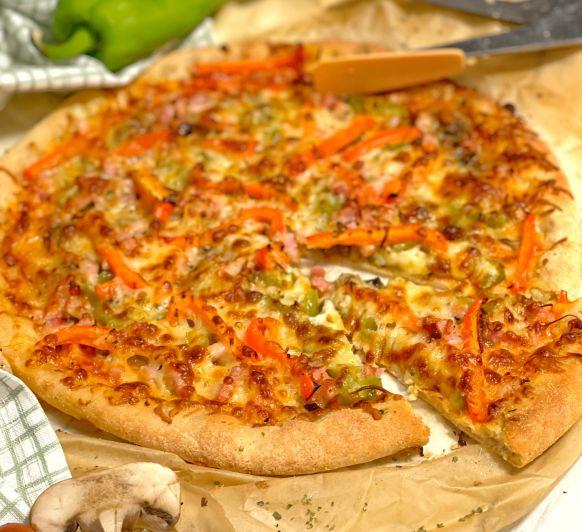 PIZZA VEGETAL SIN GLUTEN CON Thermomix®