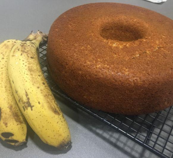 Bizcocho de plátanos sin lactosa