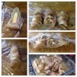 Rollitos de pollo o pavo y cebolla caramelizada
